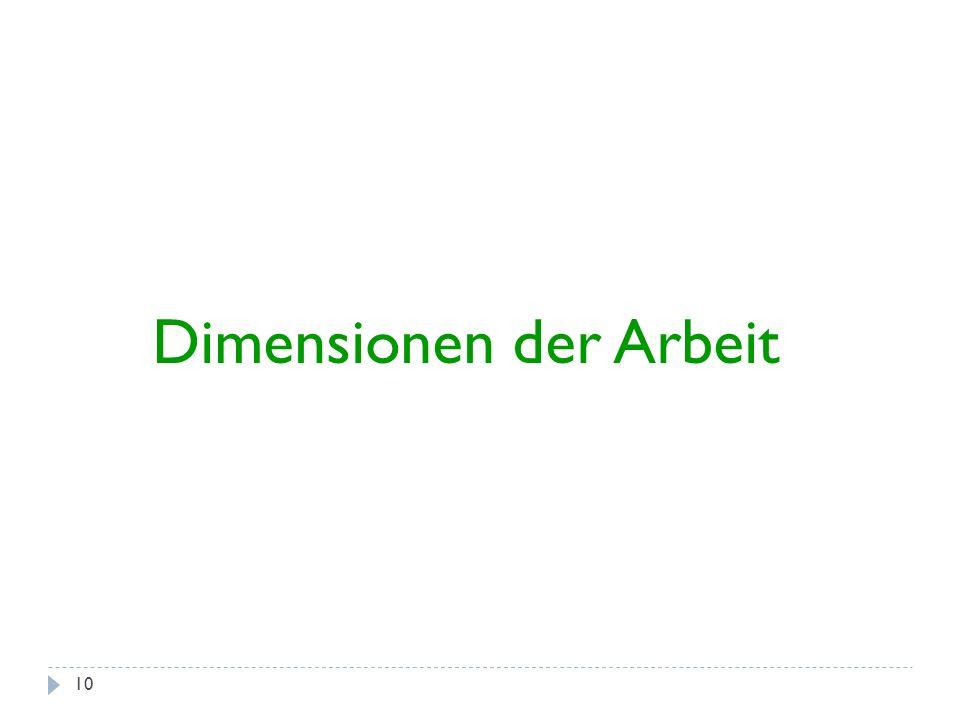 10 Dimensionen der Arbeit