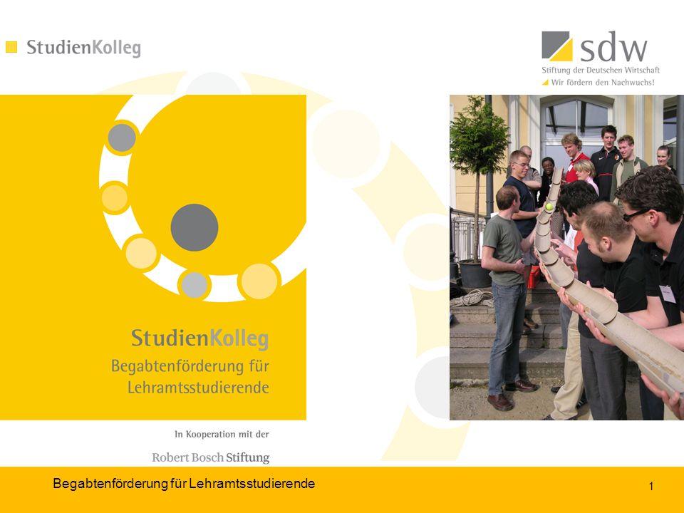 12 1.2. 4. Begabtenförderung für Lehramtsstudierende Bewerbungsverfahren (II) 5.