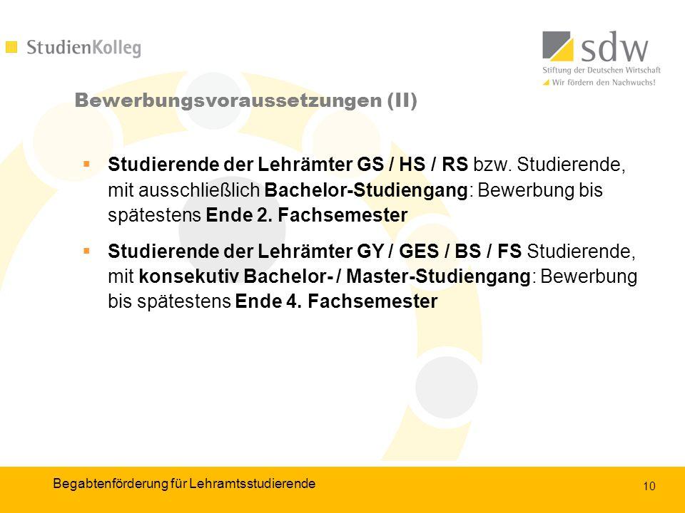 10 Studierende der Lehrämter GS / HS / RS bzw.