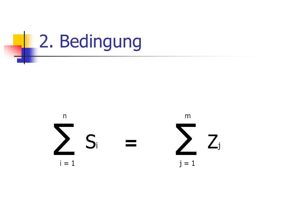 2. Bedingung i = 1j = 1 nm = SiSi ZjZj