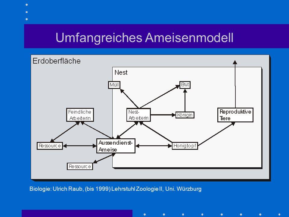 Umfangreiches Ameisenmodell Biologie: Ulrich Raub, (bis 1999) Lehrstuhl Zoologie II, Uni. Würzburg