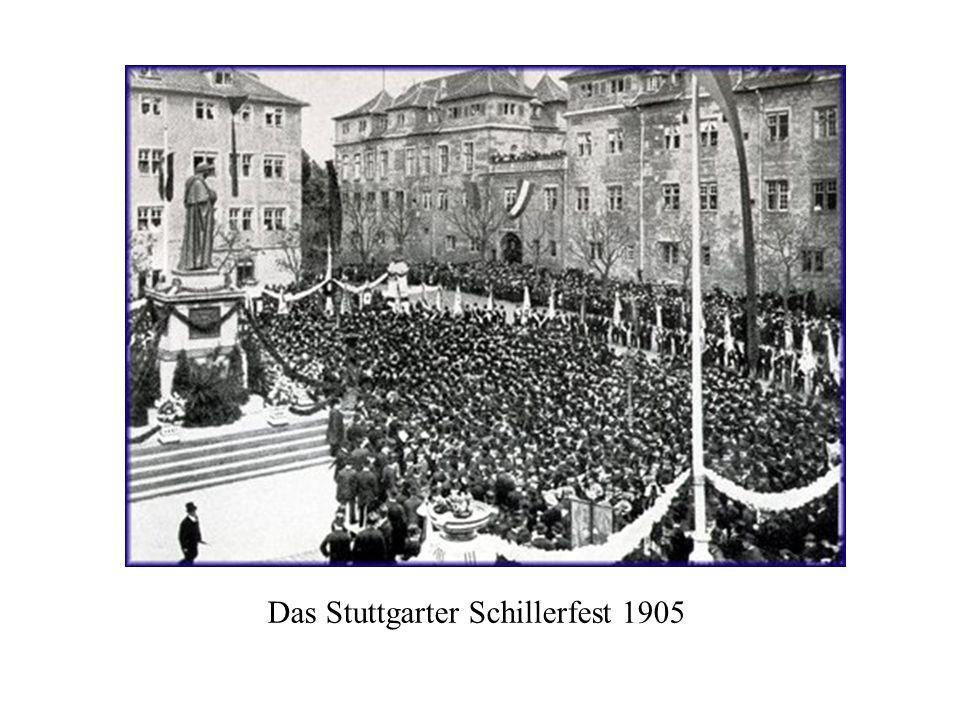 Das Weimarer Schillerfest 1905 (vor dem Theater und dem Doppelstandbild)