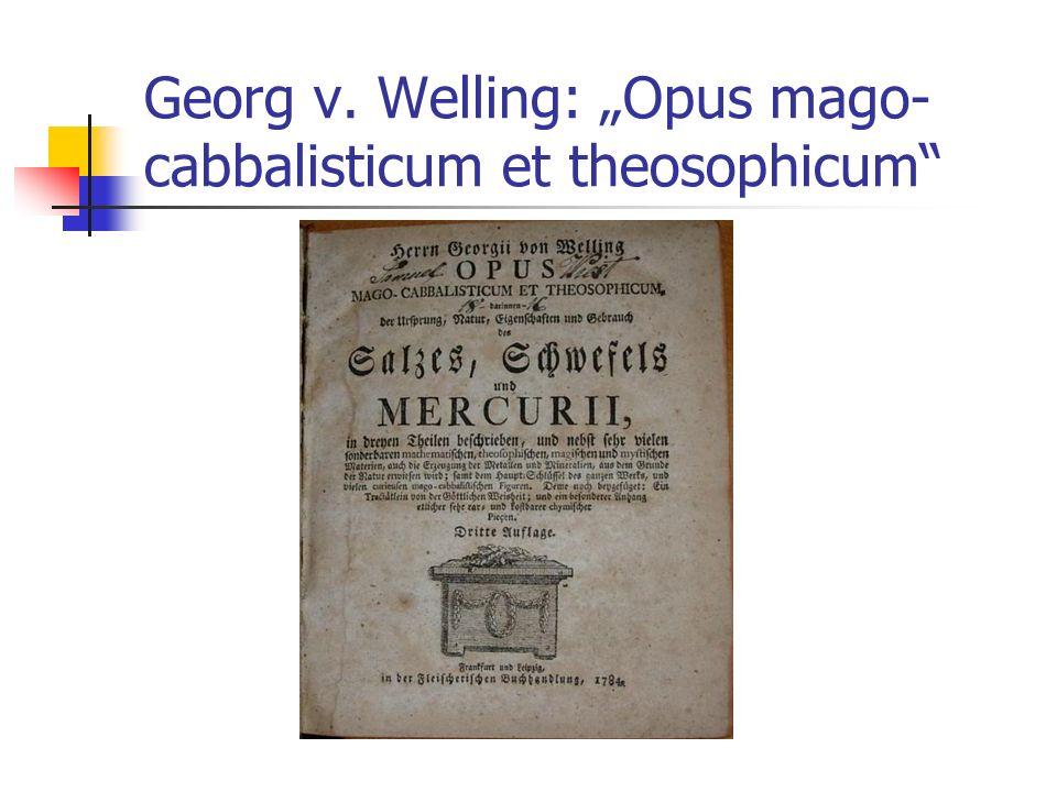 Georg v. Welling: Opus mago- cabbalisticum et theosophicum