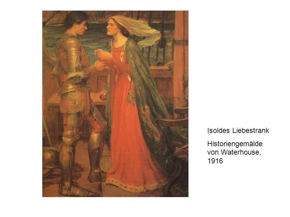 Isoldes Liebestrank Historiengemälde von Waterhouse, 1916