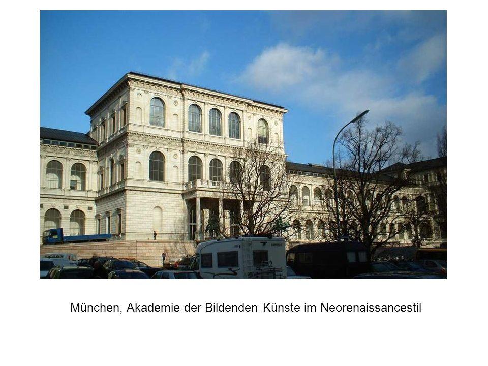 München, Akademie der Bildenden Künste im Neorenaissancestil