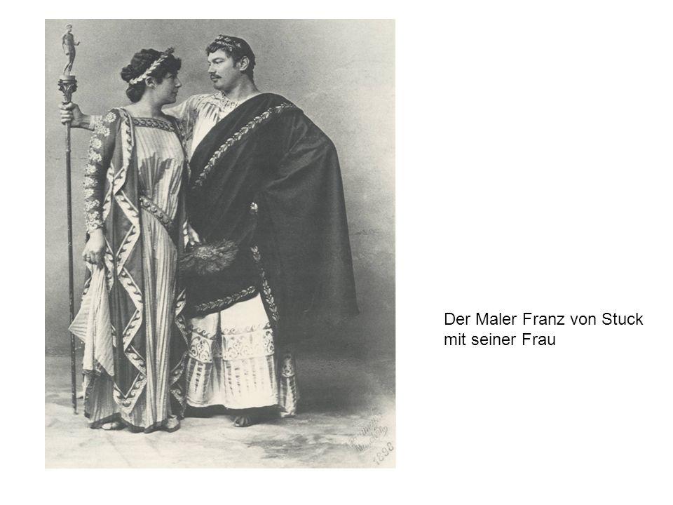 Der Maler Franz von Stuck mit seiner Frau