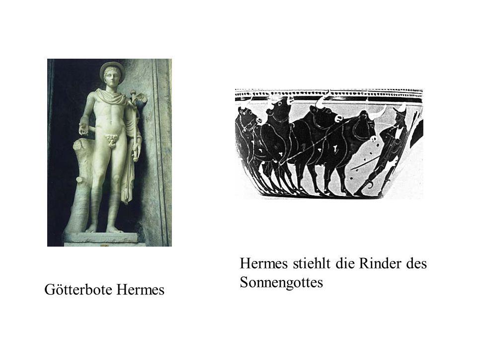 Hermes stiehlt die Rinder des Sonnengottes Götterbote Hermes
