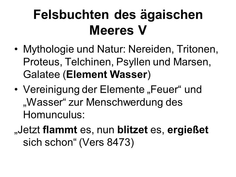 Felsbuchten des ägaischen Meeres V Mythologie und Natur: Nereiden, Tritonen, Proteus, Telchinen, Psyllen und Marsen, Galatee (Element Wasser) Vereinig