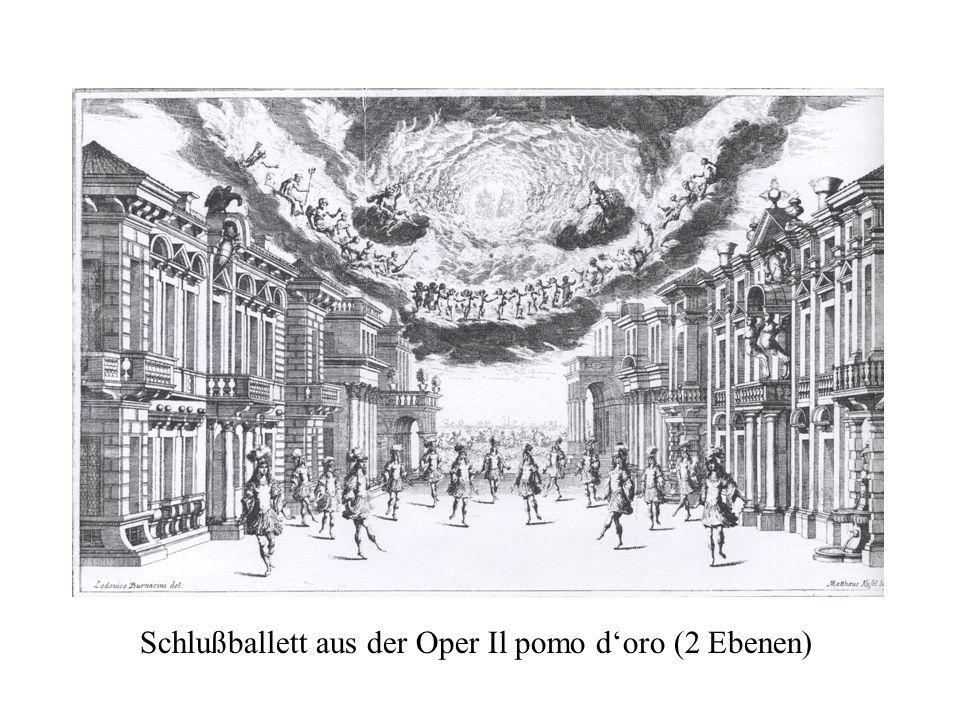 Schlußballett aus der Oper Il pomo doro (2 Ebenen)