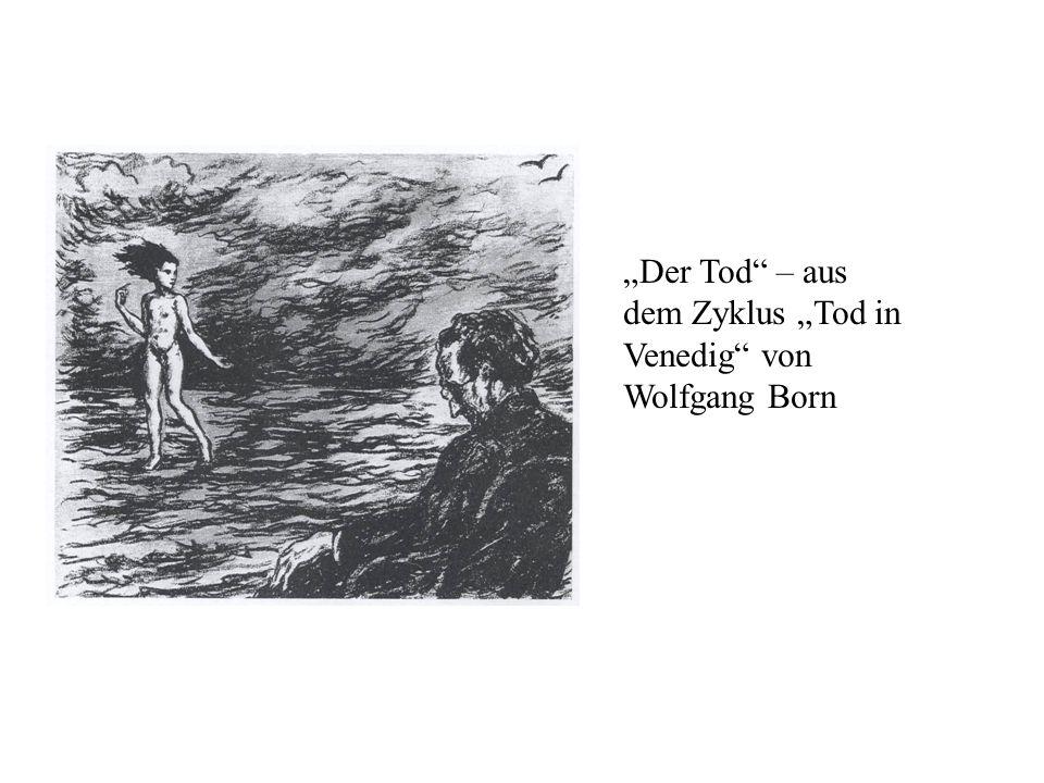 Der Tod – aus dem Zyklus Tod in Venedig von Wolfgang Born