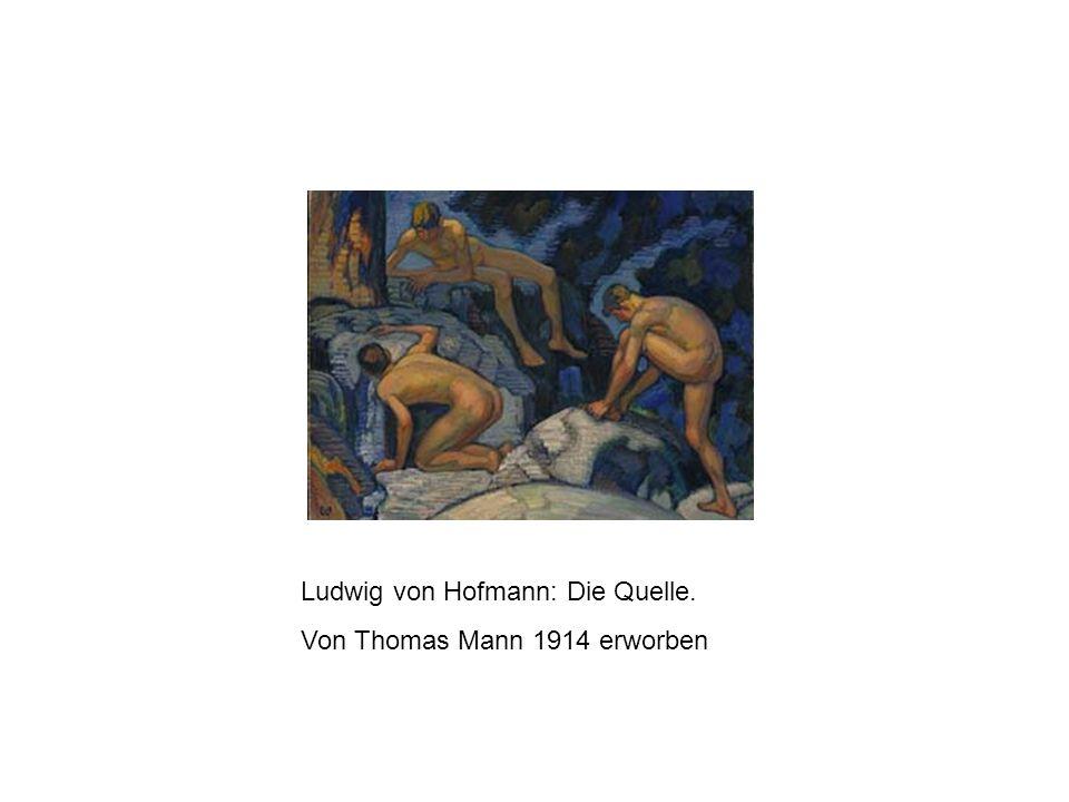 Ludwig von Hofmann: Die Quelle. Von Thomas Mann 1914 erworben