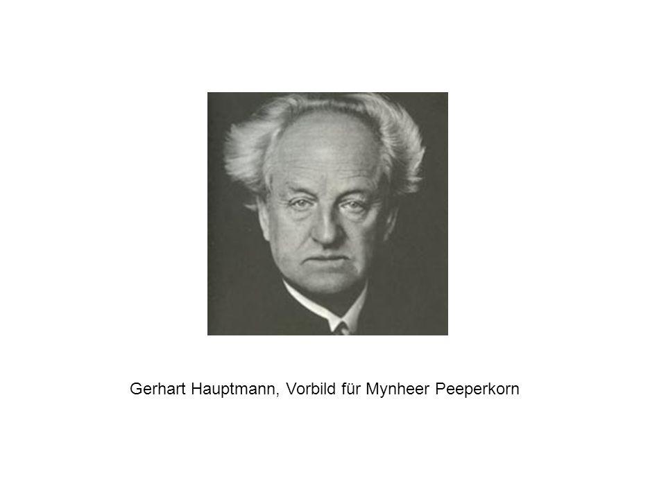 Gerhart Hauptmann, Vorbild für Mynheer Peeperkorn