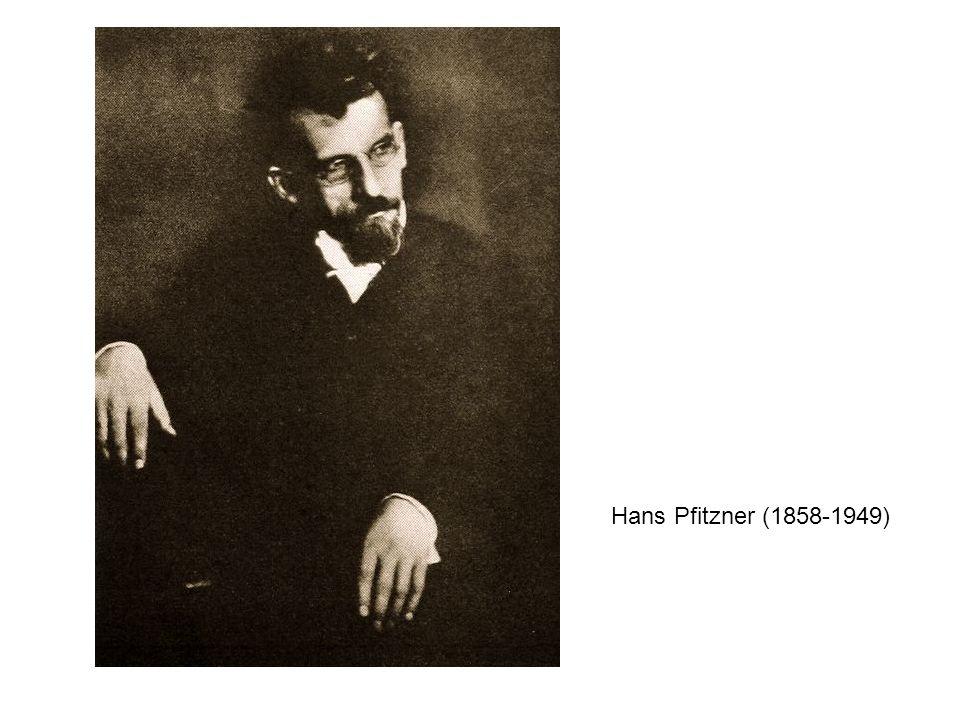 Hans Pfitzner (1858-1949)