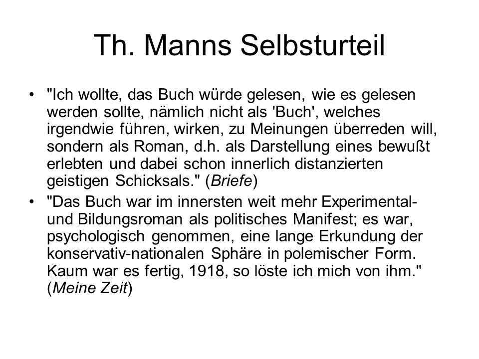 Th. Manns Selbsturteil