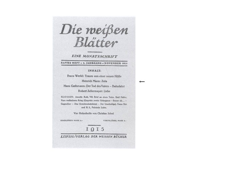 Heinrich Manns Essays Geist und Tat (1910/11) Zola 1916 Macht und Mensch 1919 (Sammlung) (Emil Zola: Offener Brief Jaccuse 1898, Stellungnahme in der Dreyfus-Affäre)