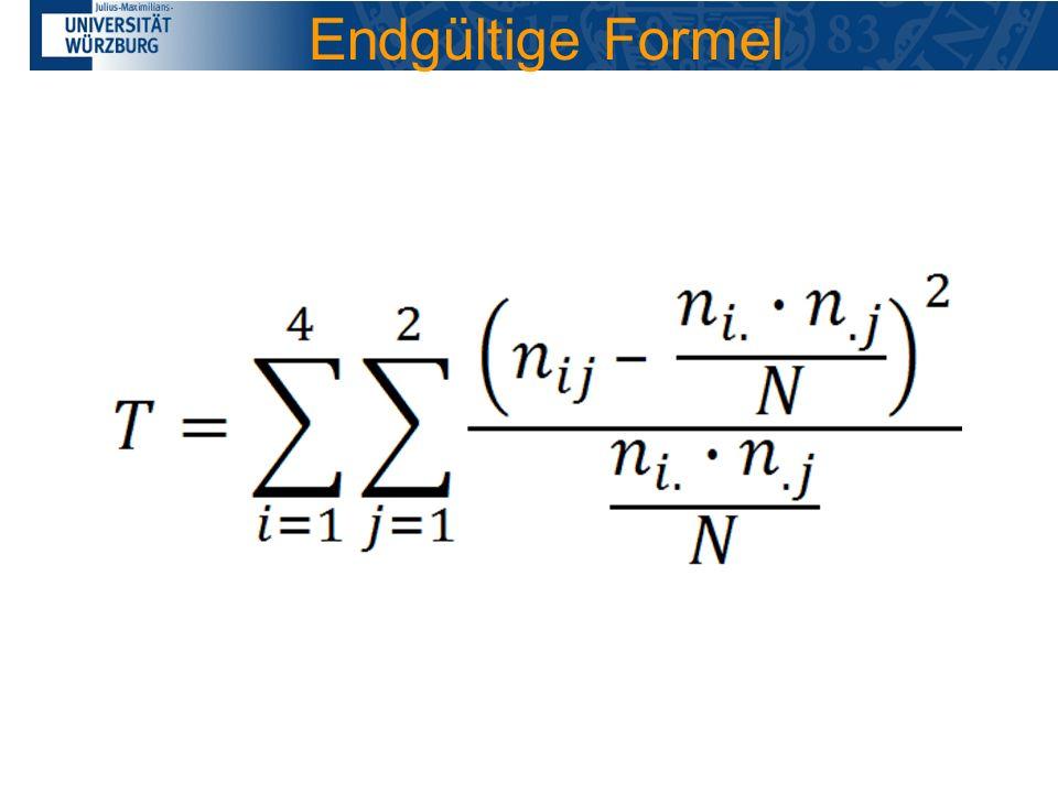 Endgültige Formel