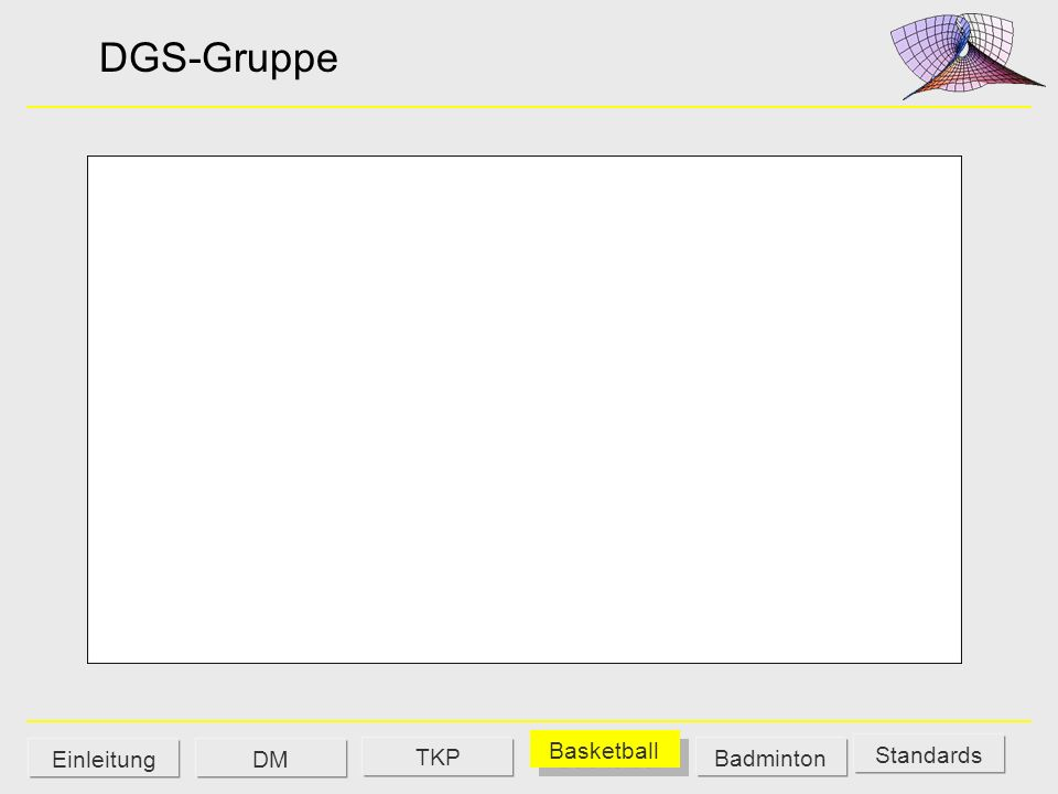 DGS-Gruppe Standards DM Basketball Badminton Einleitung TKP