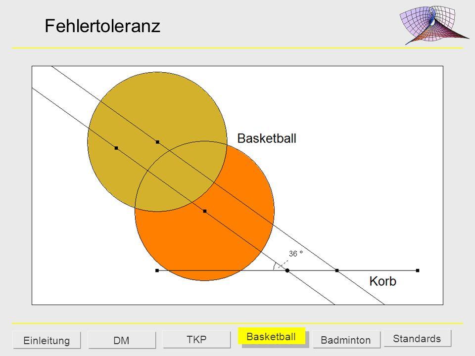 Fehlertoleranz Standards DM Basketball Badminton Einleitung TKP