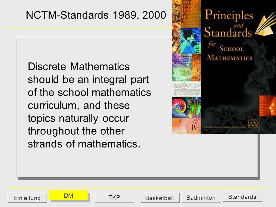 Derive - http://www.derive.de/http://www.derive.de/ Euklid-Dynageo - www.dynageo.dewww.dynageo.de Livemath - www.livemath.de/www.livemath.de/ Probleme – Folgen – Excel, Ein interaktives Lehr- und Lernprogramm http://www.didaktik.mathematik.uni-wuerzburg.de/ Weigand Derive - http://www.derive.de/http://www.derive.de/ Euklid-Dynageo - www.dynageo.dewww.dynageo.de Livemath - www.livemath.de/www.livemath.de/ Probleme – Folgen – Excel, Ein interaktives Lehr- und Lernprogramm http://www.didaktik.mathematik.uni-wuerzburg.de/ Weigand DMEinleitung TKPBasketball Badminton Standards Internetseiten