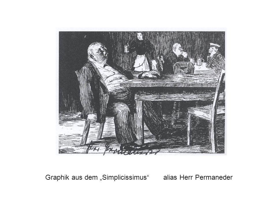 Graphik aus dem Simplicissimus alias Herr Permaneder