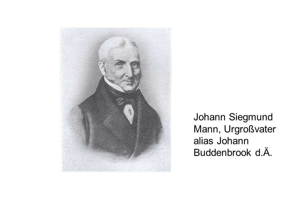 Johann Siegmund Mann, Urgroßvater alias Johann Buddenbrook d.Ä.