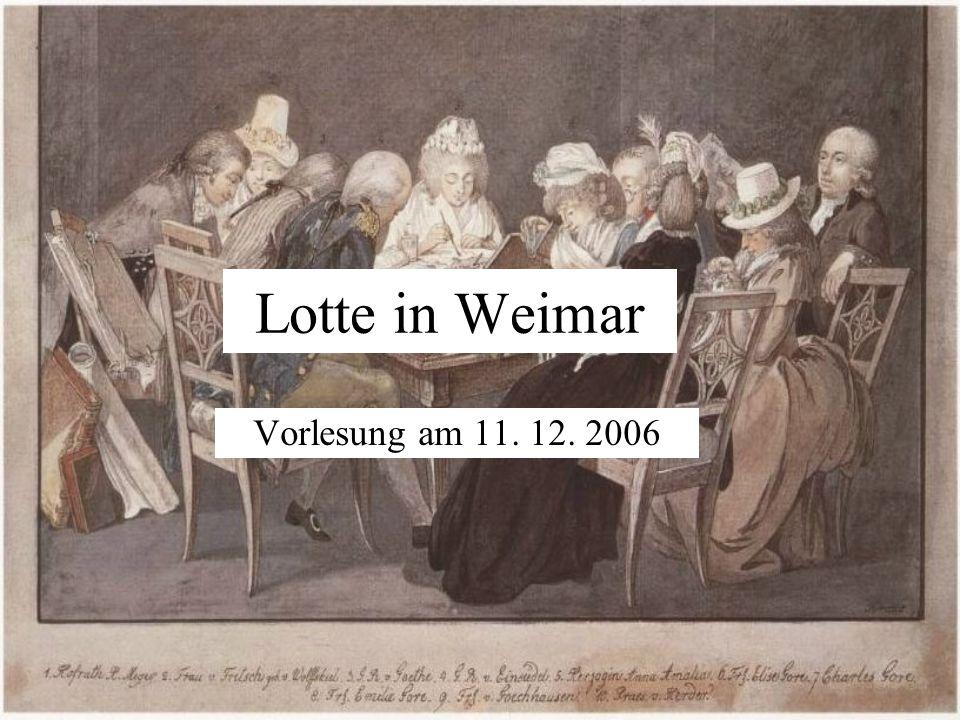 Lotte in Weimar Vorlesung am 11. 12. 2006