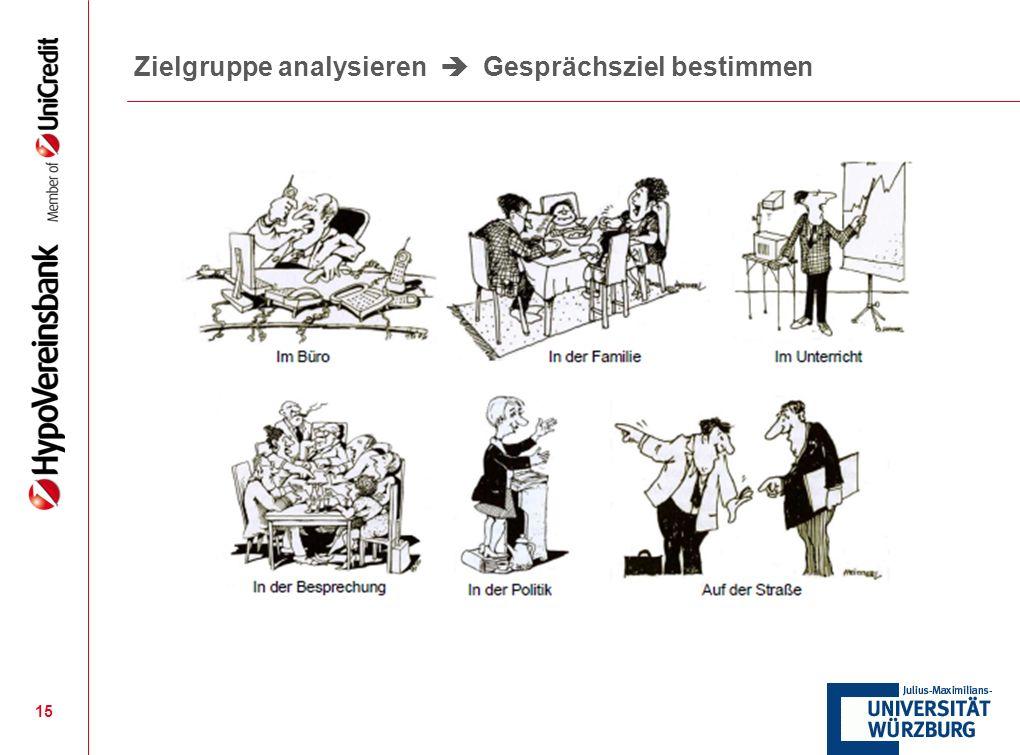 15 Zielgruppe analysieren Gesprächsziel bestimmen