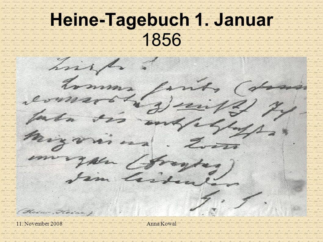 11. November 2008Anna Kowal Heine-Tagebuch 1. Januar 1856