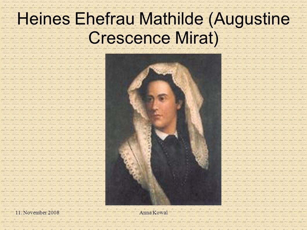 11. November 2008Anna Kowal Heines Ehefrau Mathilde (Augustine Crescence Mirat)