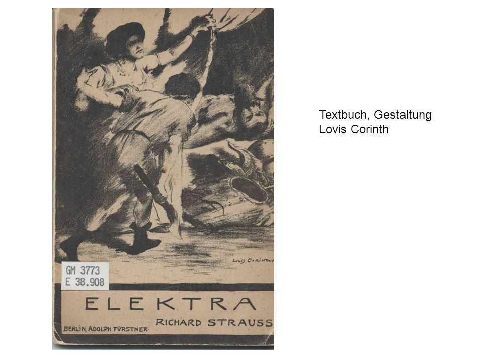Textbuch, Gestaltung Lovis Corinth
