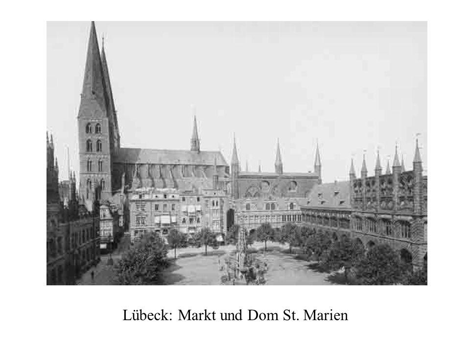 Lübeck: Markt und Dom St. Marien
