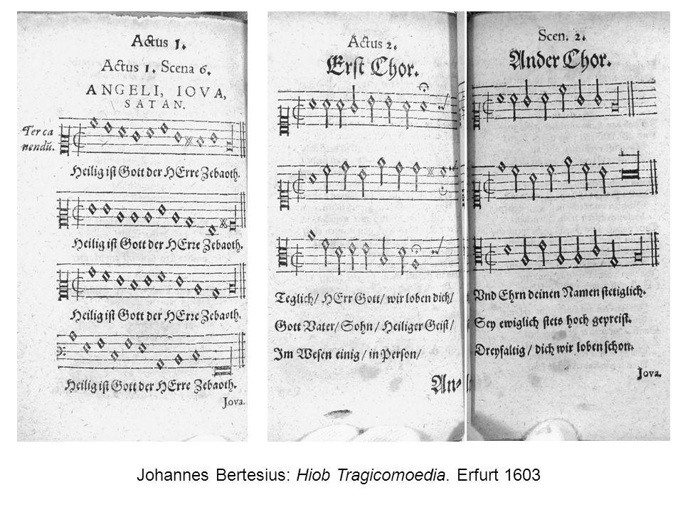 Johannes Bertesius: Hiob Tragicomoedia. Erfurt 1603