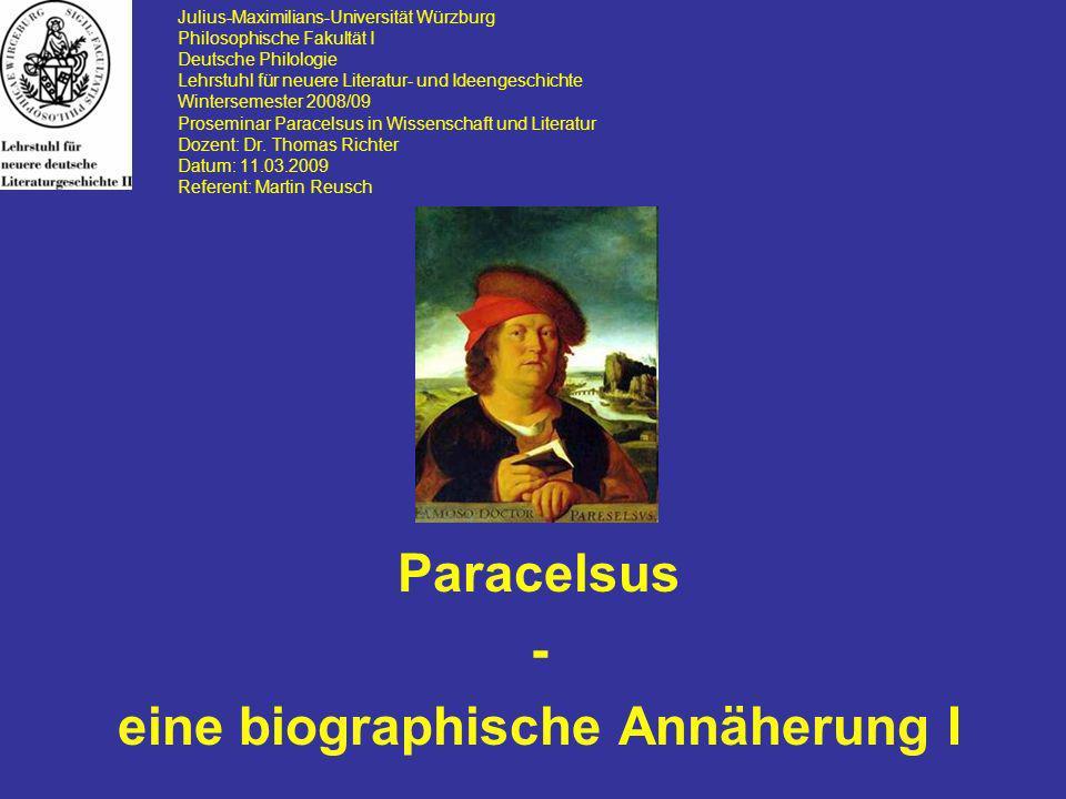 Julius-Maximilians-Universität Würzburg Philosophische Fakultät I Deutsche Philologie Lehrstuhl für neuere Literatur- und Ideengeschichte Wintersemest