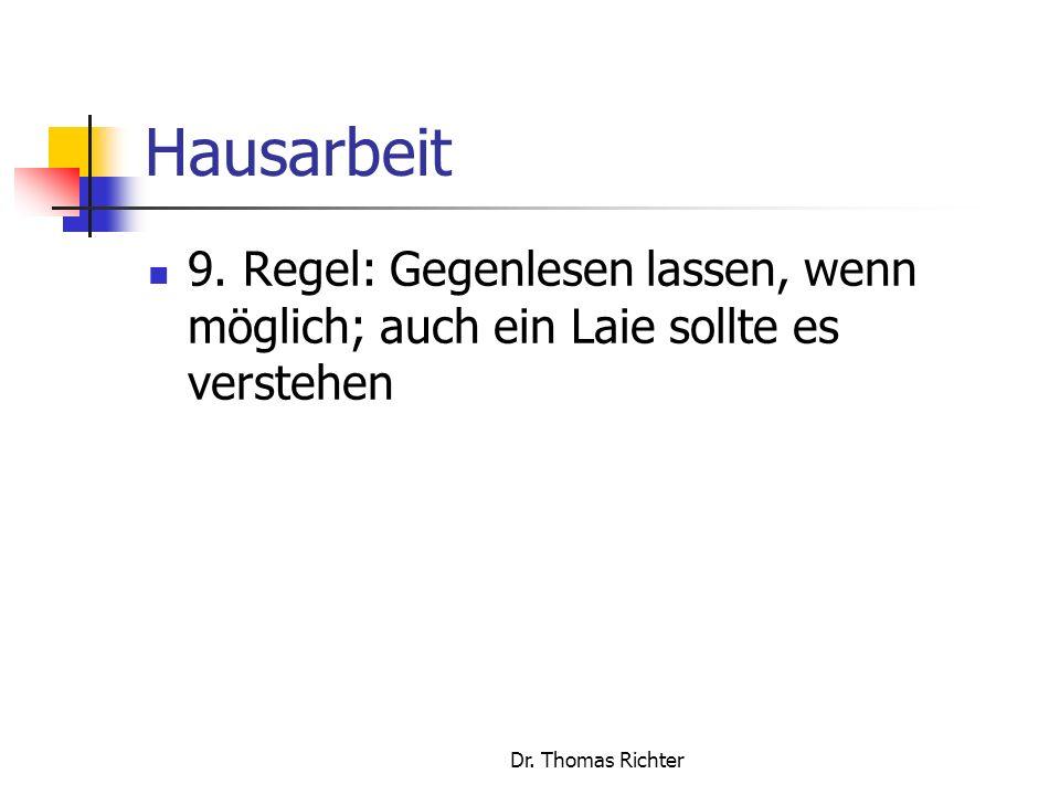 Dr.Thomas Richter Hausarbeit 9.