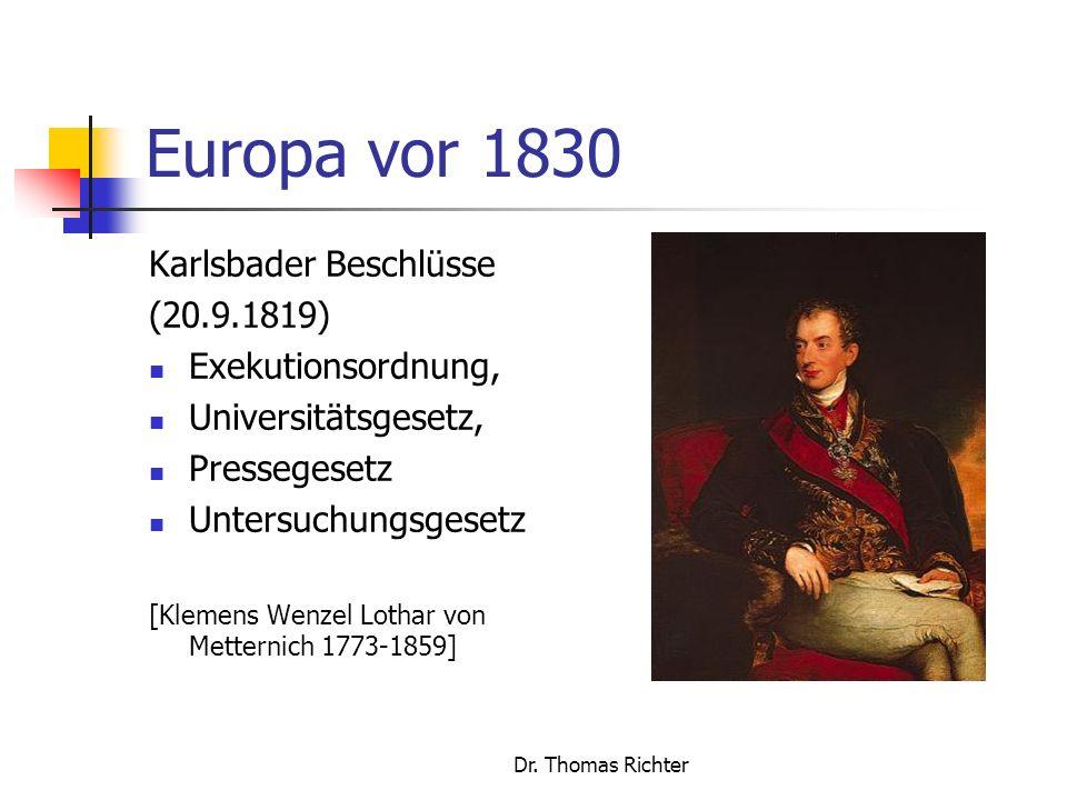 Dr.Thomas Richter Europa vor 1830 - geb.
