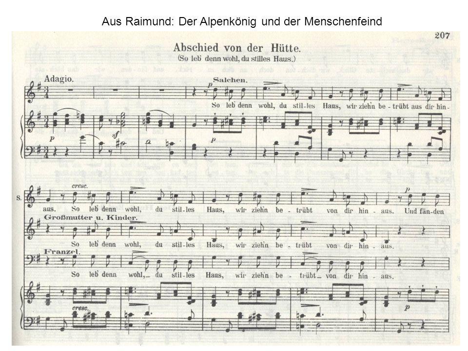 Aus Raimund: Der Alpenkönig und der Menschenfeind