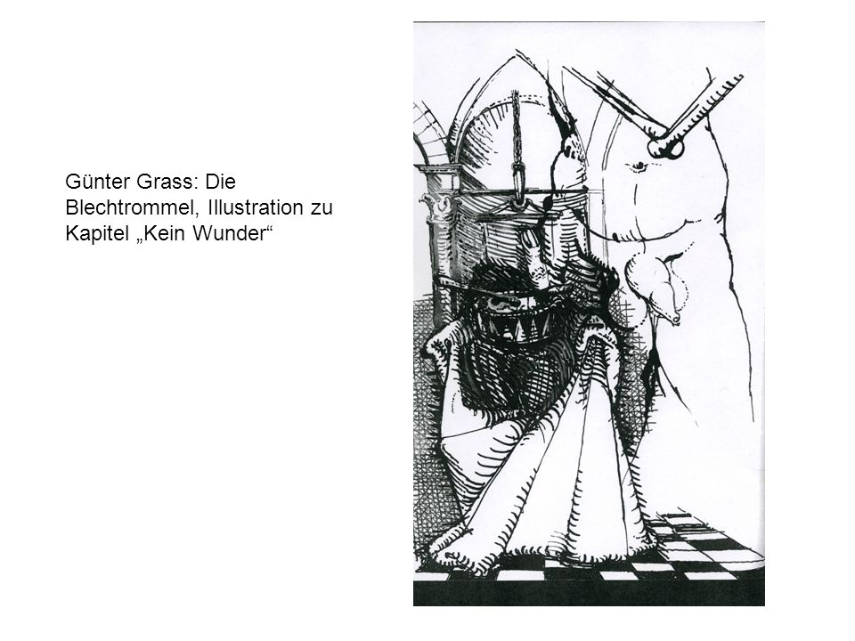 Günter Grass: Die Blechtrommel, Illustration zu Kapitel Kein Wunder