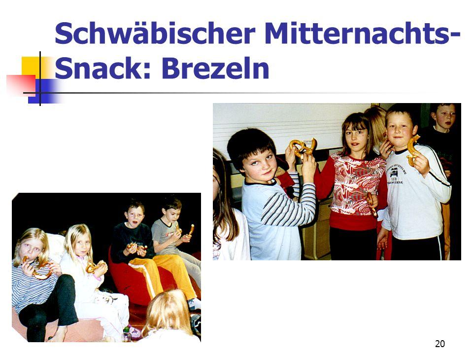 20 Schwäbischer Mitternachts- Snack: Brezeln
