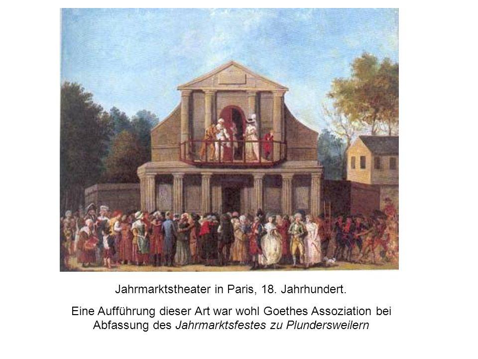 Jahrmarktstheater in Paris, 18. Jahrhundert.