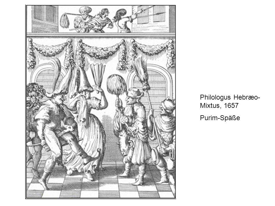 Philologus Hebræo- Mixtus, 1657 Purim-Späße