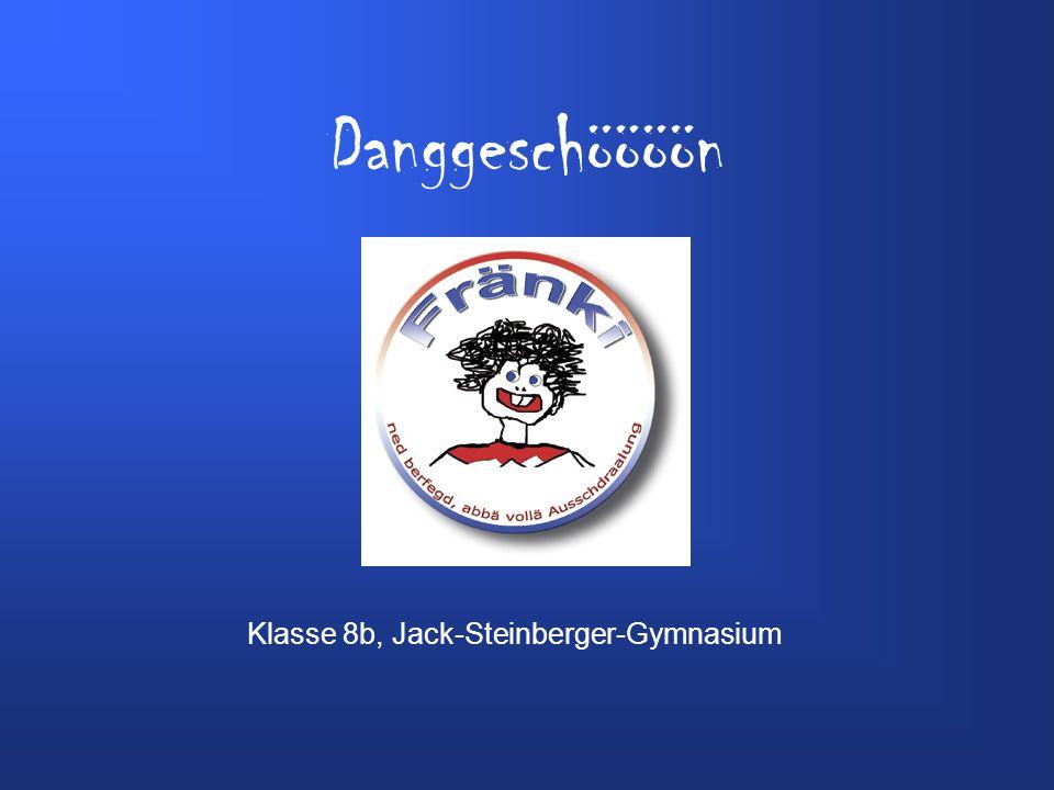 Danggeschöööön Klasse 8b, Jack-Steinberger-Gymnasium