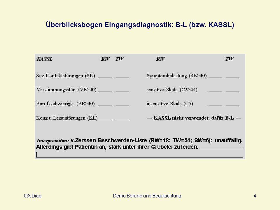 03sDiagDemo Befund und Begutachtung5 Überblicksbogen Eingangsdiagnostik: Q-Sort und Problematiken