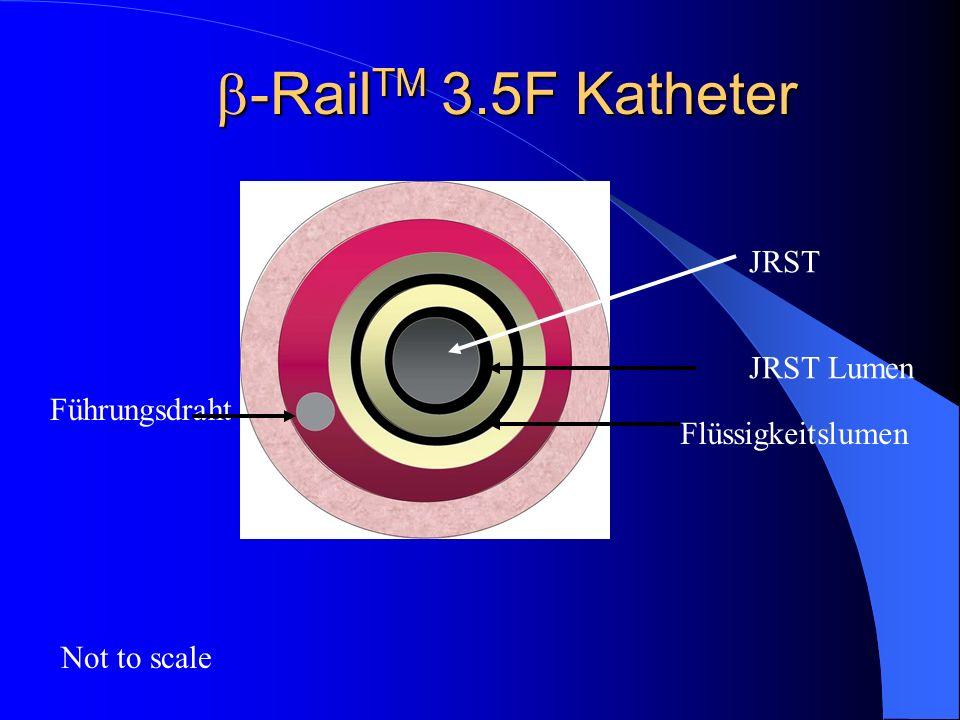 -Rail TM 3.5F Katheter -Rail TM 3.5F Katheter Not to scale JRST JRST Lumen Führungsdraht Flüssigkeitslumen
