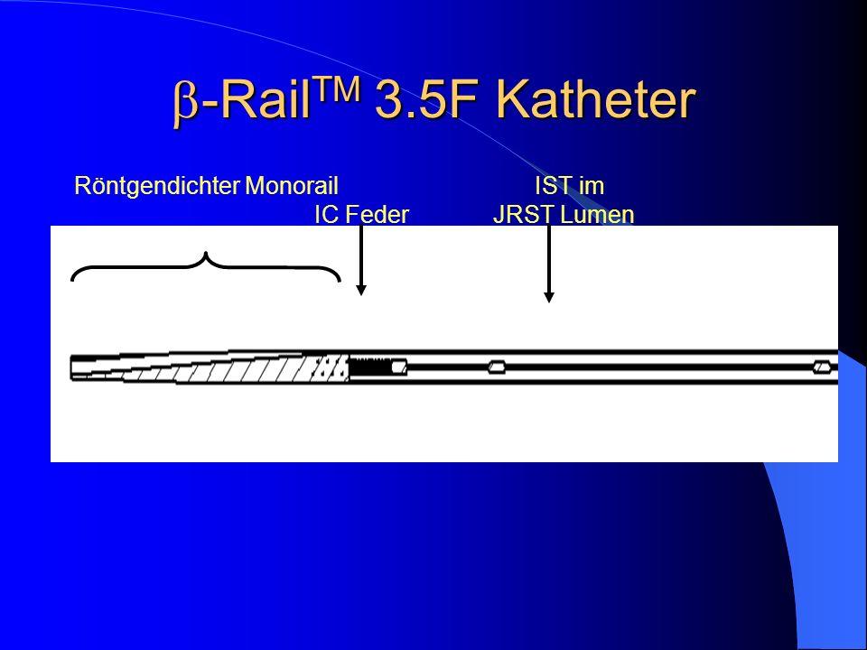 -Rail TM 3.5F Katheter -Rail TM 3.5F Katheter IC Feder Röntgendichter Monorail IST im JRST Lumen