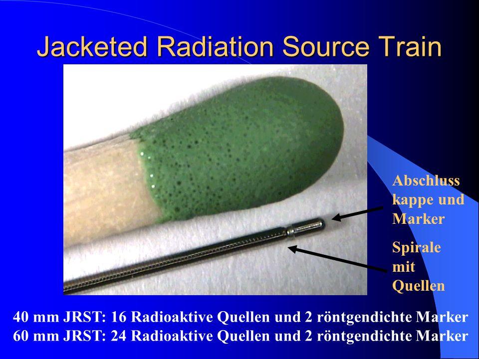 Jacketed Radiation Source Train 40 mm JRST: 16 Radioaktive Quellen und 2 röntgendichte Marker 60 mm JRST: 24 Radioaktive Quellen und 2 röntgendichte M