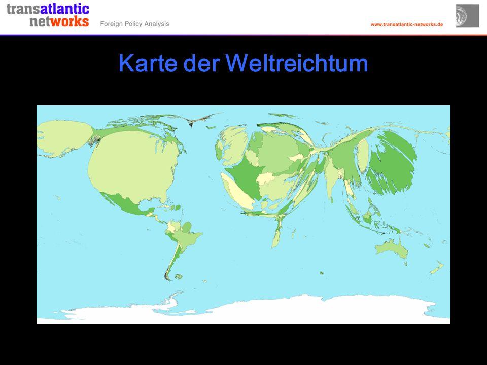 Karte der Weltreichtum