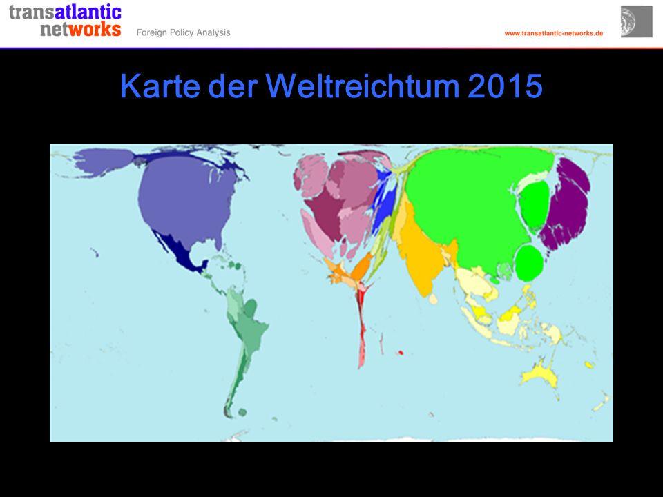 Karte der Weltreichtum 2015