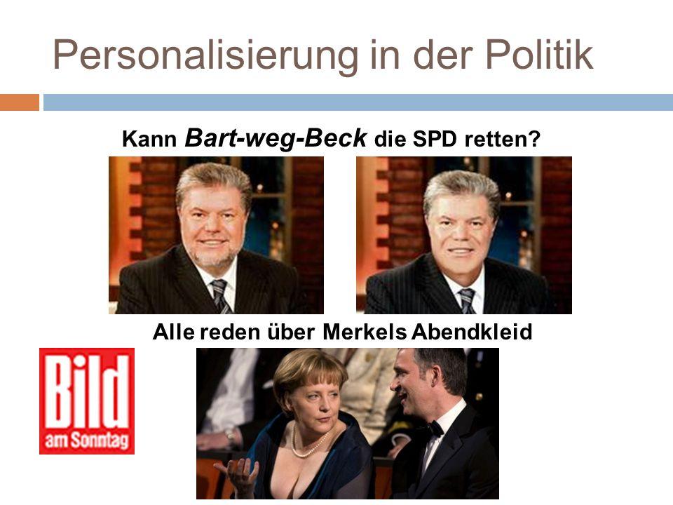 Personalisierung in der Politik Personalisierung der Medienberichterstattun g Personalisierung im Wahlkampf Personalisierung des Wählerverhaltens