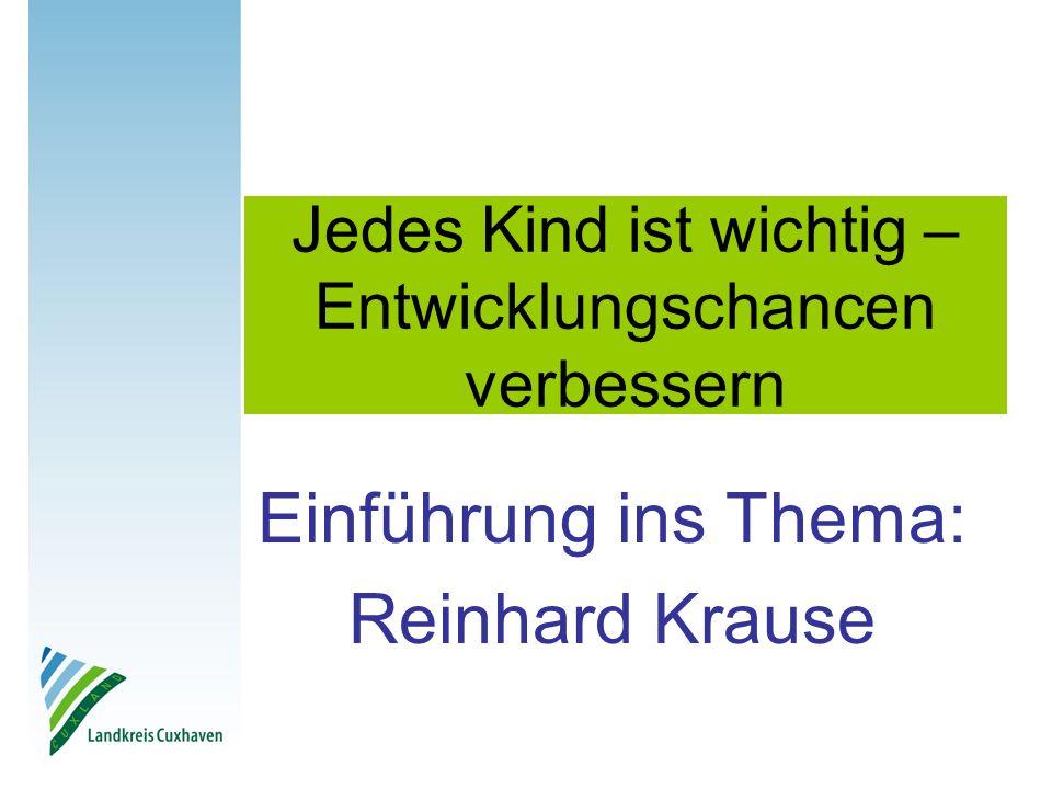 Jedes Kind ist wichtig – Entwicklungschancen verbessern Einführung ins Thema: Reinhard Krause