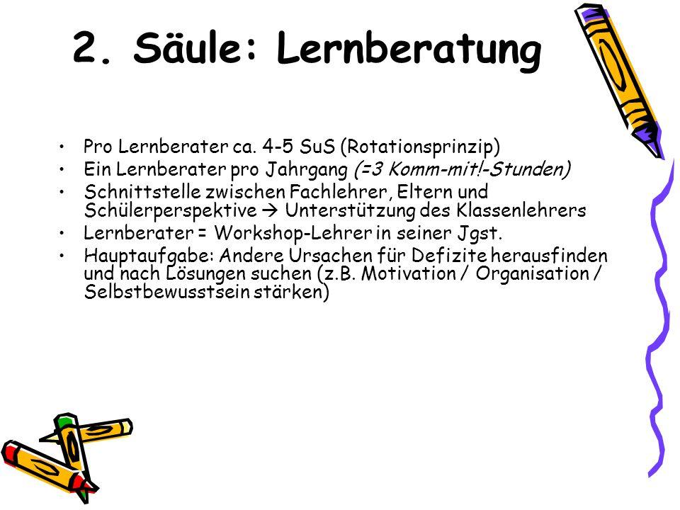 2.Säule: Lernberatung Pro Lernberater ca.